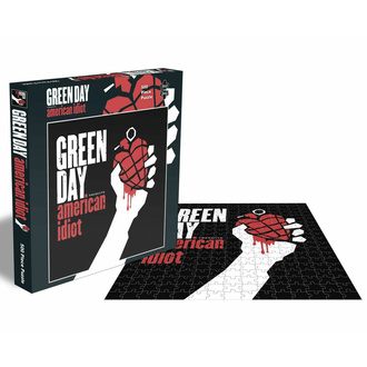 puzzle GREEN DAY - AMERICAN IDIOT - 500 PIECE JIGSAW - PLASTIC HEAD, PLASTIC HEAD, Green Day