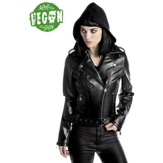 bunda dámská (křivák) KILLSTAR - Ruth Less Veganomicon Biker - Black, KILLSTAR