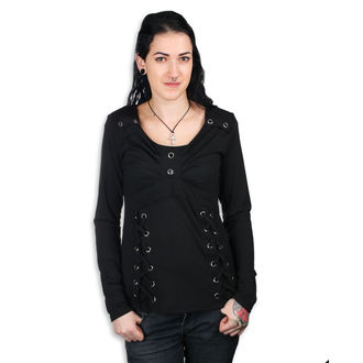 tričko dámské s dlouhým rukávem Poizen Industries - REEF - BLACK, POIZEN INDUSTRIES