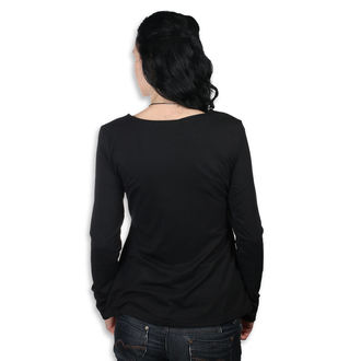 tričko dámské s dlouhým rukávem Poizen Industries - REEF - BLACK - POI692