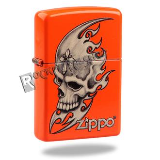 zapalovač ZIPPO - SKULL HEAD - NEON ORANGE, ZIPPO