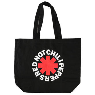 taška Red Hot Chili Peppers - Asterisk Logo - Black Shopper, Red Hot Chili Peppers