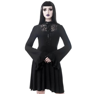 šaty dámské KILLSTAR - Sabrina Ruffle - BLACK, KILLSTAR
