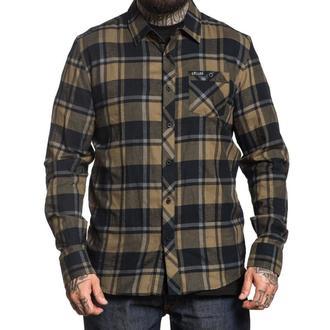 košile pánská SULLEN - BIRCHWOOD - BLACK/GREEN/GRAY, SULLEN