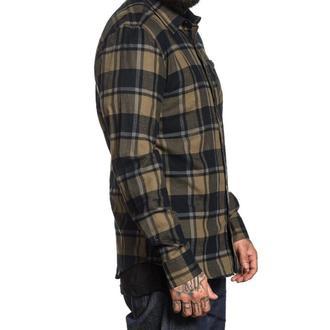 košile pánská SULLEN - BIRCHWOOD - BLACK/GREEN/GRAY