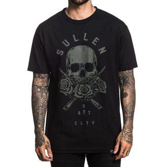 tričko pánské SULLEN - 3 ROSES - BLACK, SULLEN