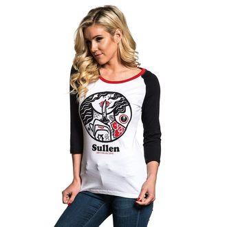tričko dámské s 3/4 rukávem SULLEN - SECRETS RAGLAN - WHT/BLK/RED, SULLEN