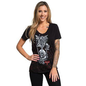tričko dámské SULLEN - HOUR GLASS - BLACK/RED DRIP, SULLEN