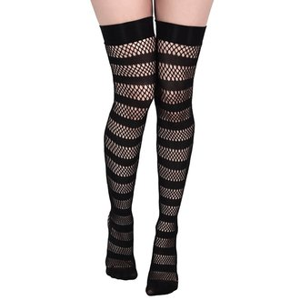 nadkolenka KILLSTAR - SHENA FISHNET - BLACK, KILLSTAR