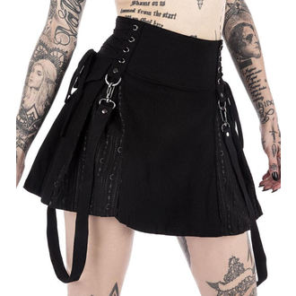 sukně dámská KILLSTAR - Sinister Scouts - Black, KILLSTAR