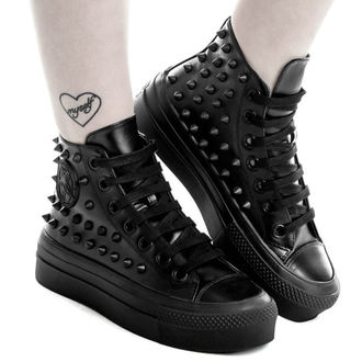 boty dámské KILLSTAR - SOULED OUT HIGH TOPS - BLACK