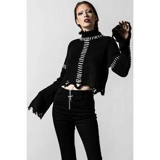 svetr dámský KILLSTAR - Stitches Knit - Black - KSRA004160