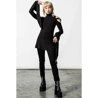 tričko dámské s dlouhým rukávem (tunika) KILLSTAR - Styla - Black, KILLSTAR