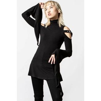 tričko dámské s dlouhým rukávem (tunika) KILLSTAR - Styla - Black - KSRA004152