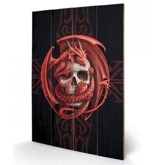 dřevěný obraz ANNE STOKES - (Skull Embrace), ANNE STOKES