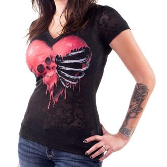 tričko dámské LETHAL THREAT - ANGEL RIBCAGE HEART, LETHAL THREAT