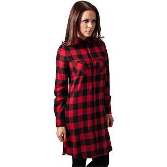 šaty dámské URBAN CLASSICS - checked Flanell - TB1216 blk/red