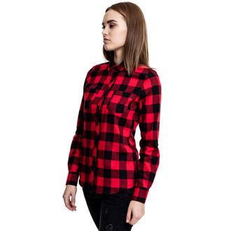 košile dámská URBAN CLASSICS - Turnup Checked Flannel, URBAN CLASSICS