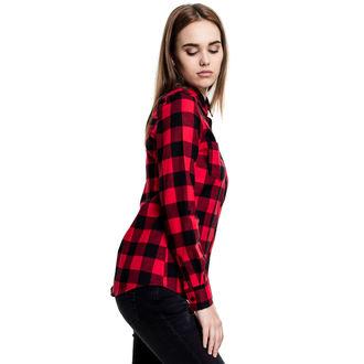 košile dámská URBAN CLASSICS - Turnup Checked Flannel - TB1280-blk/red