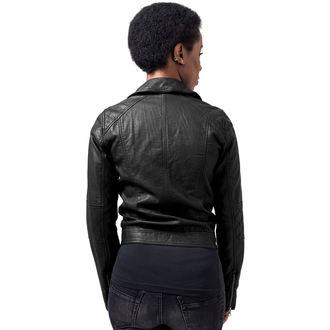 bunda dámská URBAN CLASSICS - Leather Imitation Biker - TB1353-black