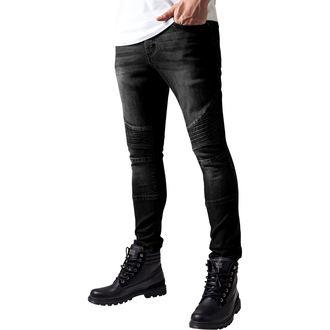 kalhoty pánské URBAN CLASSICS - Slim Fit Biker Jeans - TB1436- black