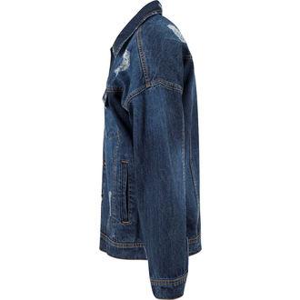 bunda pánská URBAN CLASSICS - Ripped Denim - TB1438-blue washed