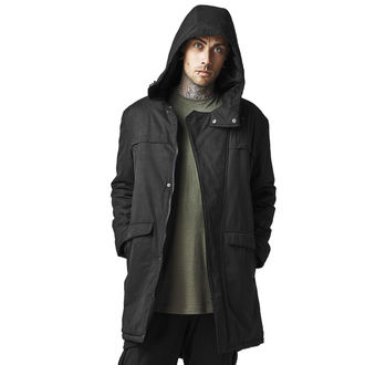 bunda pánská zimní URBAN CLASSICS - g cotton peached canvas parka - TB1461-black