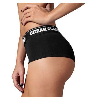 kalhotky dámské (sada 2 kusů) URBAN CLASSICS - Logo - TB1489-black