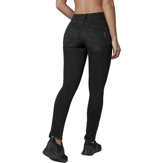 kalhoty dámské URBAN CLASSICS - High Waist - black washed, URBAN CLASSICS