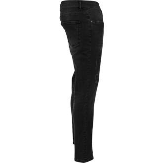 kalhoty pánské URBAN CLASSICS - Skinny Ripped Stretch Denim - TB1606_black washed