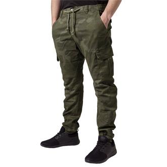 kalhoty pánské URBAN CLASSICS - Camo Cargo Jogging - olive camo, URBAN CLASSICS