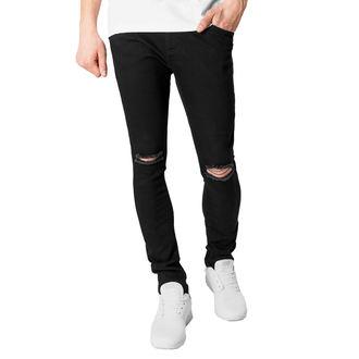 kalhoty pánské URBAN CLASSICS - Slim Fit Knee Cut Denim - TB1652_black
