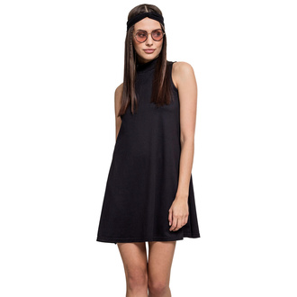šaty dámské URBAN CLASSICS - A-Line Turtleneck - TB1900-black