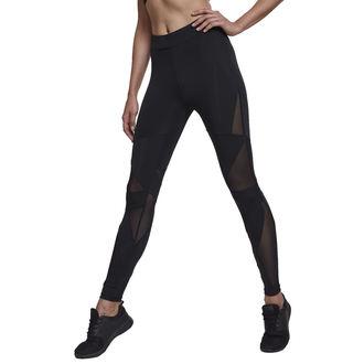 kalhoty dámské (legíny) URBAN CLASSICS - Triangle Tech Mesh - blk/blk, URBAN CLASSICS