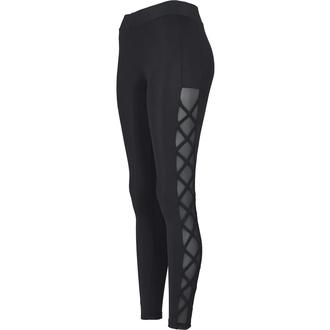 kalhoty dámské (legíny) URBAN CLASSICS - Ribbon Mesh - black, URBAN CLASSICS
