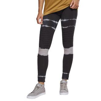 kalhoty dámské (legíny) URBAN CLASSICS - Tie Dye Biker - blk/lt.grey, URBAN CLASSICS