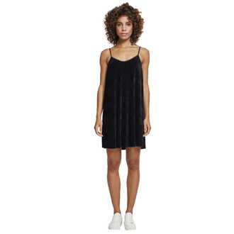 šaty dámské URBAN CLASSICS - Velvet Slip - TB2352-black
