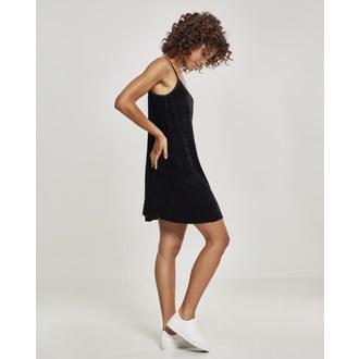 šaty dámské URBAN CLASSICS - Velvet Slip, URBAN CLASSICS