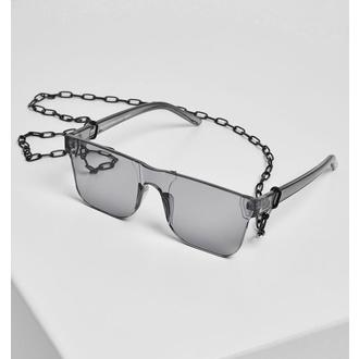 brýle sluneční URBAN CLASSICS - 105 Chain - TB2571-blacktransparent