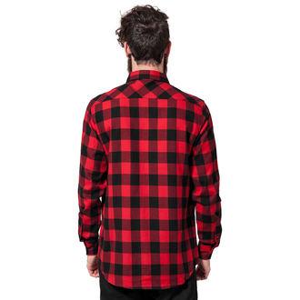 košile pánská URBAN CLASSICS - Checked Flanell - TB297-blk/red