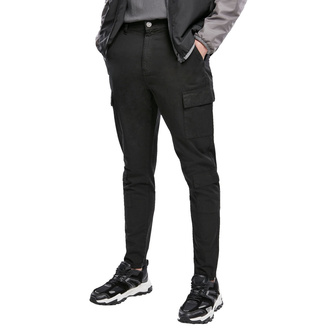 kalhoty pánské URBAN CLASSICS - Tapered Double Cargo - black - TB3698-black