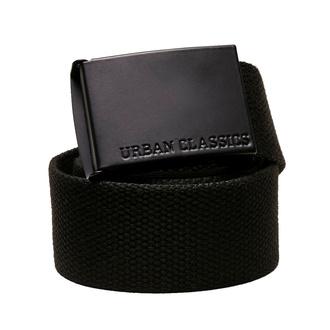 pásek URBAN CLASSICS -  Coloured Buckle Canvas - black, URBAN CLASSICS