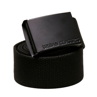 pásek URBAN CLASSICS - Colored Buckle Canvas 2-Pack - asphalt/black, URBAN CLASSICS