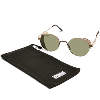 sluneční brýle URBAN CLASSICS - Sicilia - anticgold/brown, URBAN CLASSICS