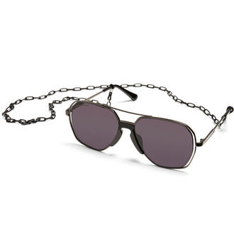 sluneční brýle URBAN CLASSICS - Karphatos With Chain - gunmetal/black, URBAN CLASSICS