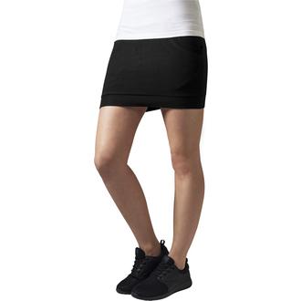 sukně dámská URBAN CLASSICS - French terry - TB466-black
