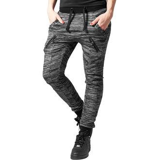 kalhoty dámské (tepláky) URBAN CLASSICS - Fitted Melange - blk/gry, URBAN CLASSICS