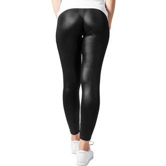 kalhoty dámské (legíny) URBAN CLASSICS - Leather lmitation - TB947-black