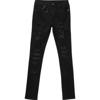 kalhoty dámské KILLSTAR - Trash Talk Jeans - BLACK - KSRA000409