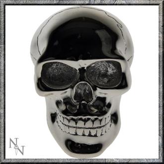 dekorace -hlavice řadící páky- Silver Skull Gear - U0485B4